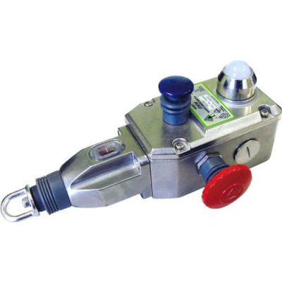 IDEM 144022A GLS-SS Rope Pull Switch W/E Stops/LED-STD Act, 2NC 2NO, SS