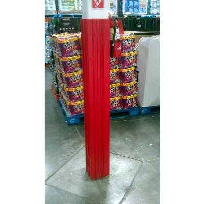 "Ideal Shield® Square Column Wrap, HDPE, Red, 11""L x 11""W x 60""H"