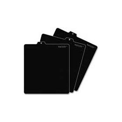A-Z CD File folder Guides, 5w x 5-3/4h, Black