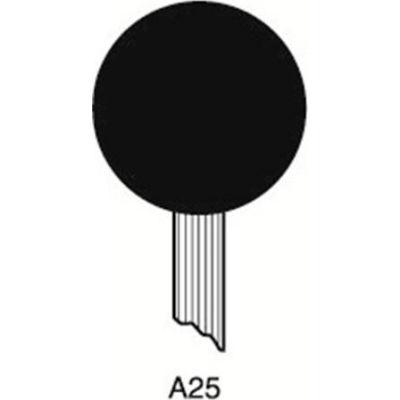 "Grier Abrasives Mounted Point A25, 1"" x 1"" - 1/4x1-1/2 Shank, 60, Pink - Pkg Qty 50"