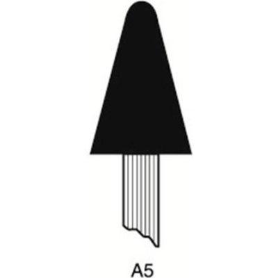 "Grier Abrasives Mounted Point A5, 3/4"" x 1-1/8"" - 1/4x1-1/2 Shank, 60, Blue - Pkg Qty 50"