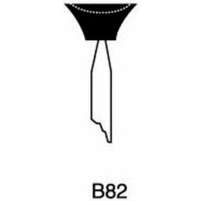 "Grier Abrasives Mounted Point B82, 1/2"" x 1/4"" - 1/8x1-1/2 Shank, 120, Blue - Pkg Qty 100"