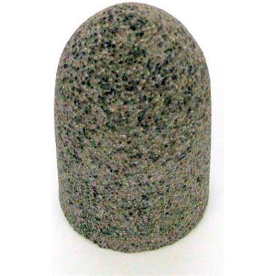 "Grier Abrasives Cone Radius Side, Round Tip, 2"" x 3"" - 3/8-24 Shank, 24, Brown - Pkg Qty 20"