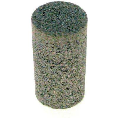"""Grier Abrasives Plug Cylinder, Flat Tip, 1-1/2"""" x 2-1/2"""" - 3/8-24 Shank, 24, Brown - Pkg Qty 20"""