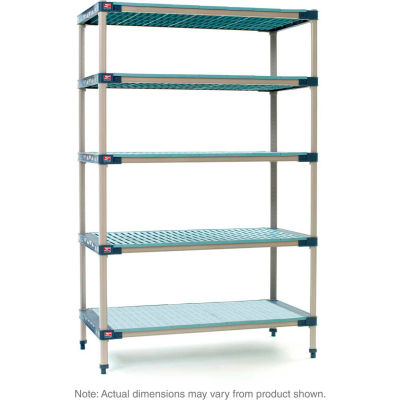 "MetroMax 4 5-Tier Starter Unit with Solid Bottom Shelf - 24""W x 18""D x 74""H"