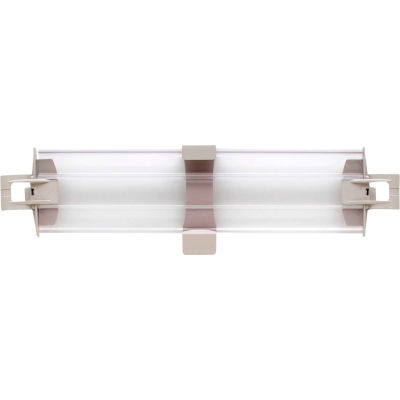 """MetroMax 4 Solid Clear Stackable Shelf Ledge - Side - 18""""W x 4""""H"""