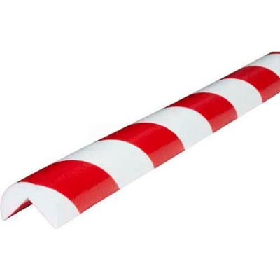 "Knuffi 90-Degree Corner Bumper Guard, Type A, 196-3/4""L x 1-9/16""W, Red & White, 60-6700-2"