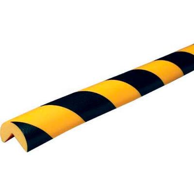 """Knuffi 90-Degree Corner Bumper Guard, Type A, 196-3/4""""L x 1-9/16""""W, Black & Yellow, 60-6700"""