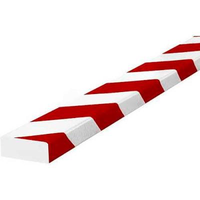 "Knuffi Surface Bumper Guard, Type D, 196-3/4""L x 2""W x 13/16""H, Red & White, 60-6730-2"