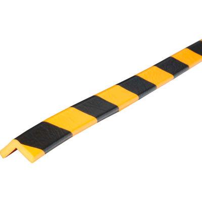 "Knuffi 90-Degree Shelf Bumper Guard, Type E, 39-3/8""L x 1""W, Yellow/Black, 60-6742"