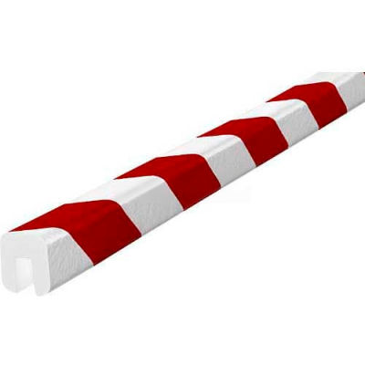 """Knuffi Shelf Bumper Guard, Type G, 196-3/4""""L x 1-1/16""""W x 1-1/4""""H, Red & White, 60-6760-2"""