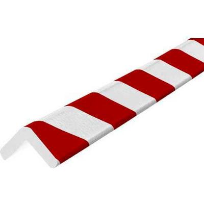 """Knuffi Corner Bumper Guard, Type H, 196-3/4""""L x 1-7/8""""W x 1-7/8""""H, Red & White, 60-6770-2"""