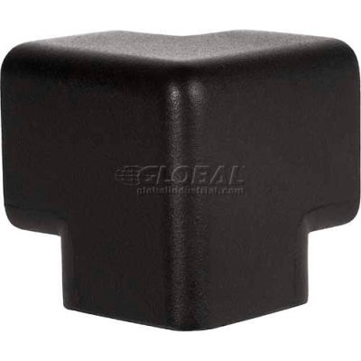 Knuffi 3D Black Protective Corner, Type H, Black 60-6789