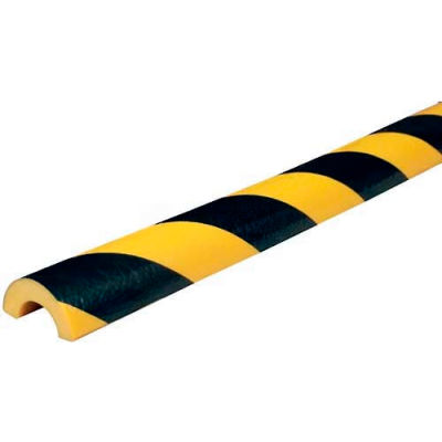 "Knuffi Pipe Bumper Guard, Type R30, 196-3/4""L x 2""W x 1""H, Black & Yellow, 60-6792"