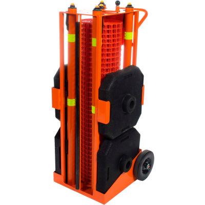 Ideal Warehouse PSZ-SLM Portable Safety Zone, 100' Safety Orange Fencing