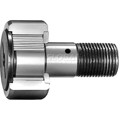 "IKO Cam Follower-INCH Full Comp Crowned OD Hex Hole DBL Sealed 1/2"" OD 11/32""W No.10-32 THR"