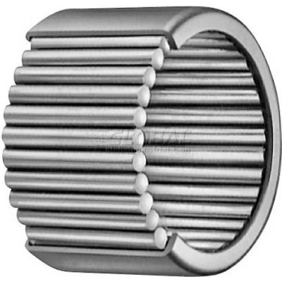 "IKO Shell Type Needle Roller Bearing INCH, Grease Retained, 1/2 Bore, 11/16 OD, .250"" Width"