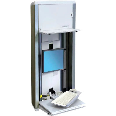 Ergotron® 60-595-062 StyleView® VL Enclosure Wall-Mount Computer Workstation