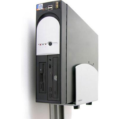 Ergotron® 97-468-202 Vertical Universal CPU Holder, Silver