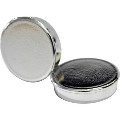 "MasterVision Super Silver Magnets, 1"" Diameter, Pack of 10"