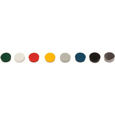 "MasterVision Super Magnets - 3/4"" Diameter - Assorted Colors - Pack of 10"