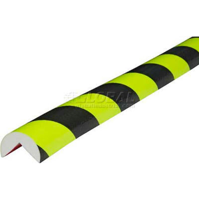 "Knuffi 90-Degree Corner Bumper Guard, Type A, 196-3/4""L x 1-9/16""W, Fluorescent, 60-6700-4"