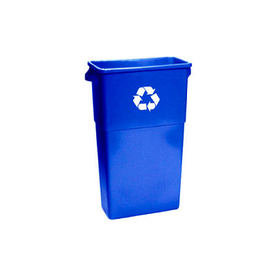Impact® Thin Bin™ Recycle Container w/Recycle Logo - Blue, 7023-11R - Pkg Qty 4
