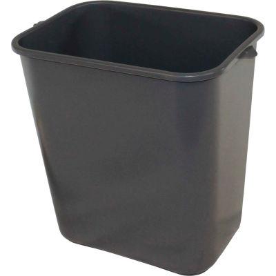 Impact Pinch'M Rectangular Soft-Sided Plastic Wastebasket-28 Qt., Gray, 7702-3 - Pkg Qty 24