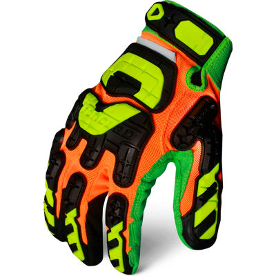 Ironclad LPI-CC5-05-XL Low Profile Impact Gloves, Cut 5, 1 Pair, Multi Hi-Viz, XL