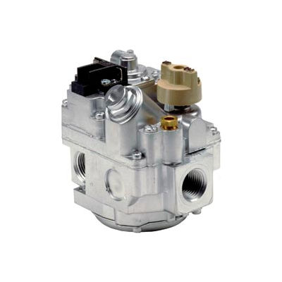 """Gas Valve - 1/2"""" Inlet, 1/2"""" Side Outlets, Uni-Kit Pressure Reg"""