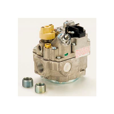 """Gas Valve - 1/2"""" Inlet, Straight-Thru Side Outlets, 3.5"""" W.C. Nat. Gas"""