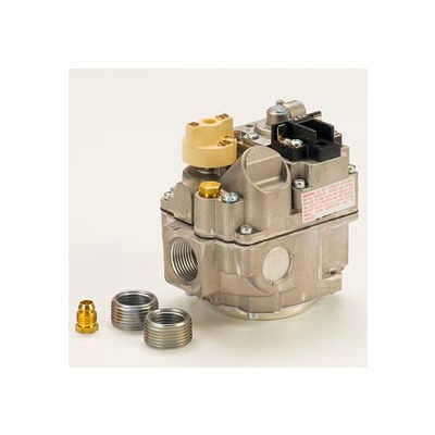 "Solenoid Valve - 3/4"" Inlet, Straight-Thru Side Outlets, 3.5"" W.C"