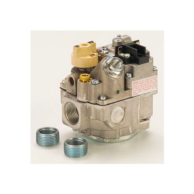 """Gas Valve - 3/4"""" Inlet, Straight-Thru Side Outlets, 3.5"""" W.C. Nat. Gas"""