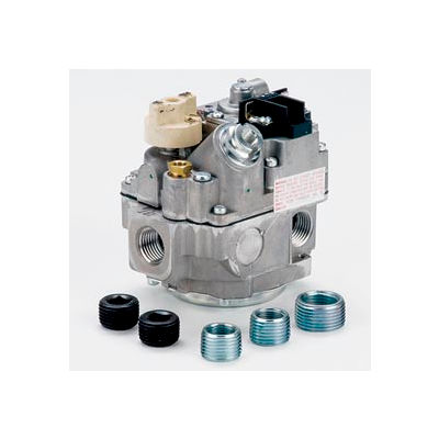 """Gas Valve-3/4"""" Inlet, Straight-Thru Side Outlets, 3.5"""" W.C.Nat.Gas, 240,000 Cap."""