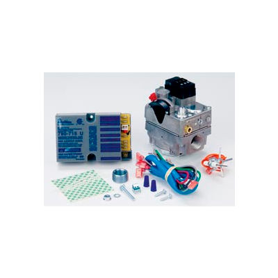 """Pilot Ignition System, 1/2"""" x 3/4"""" Gas Valve and Nonlockout Ignition Unit"""