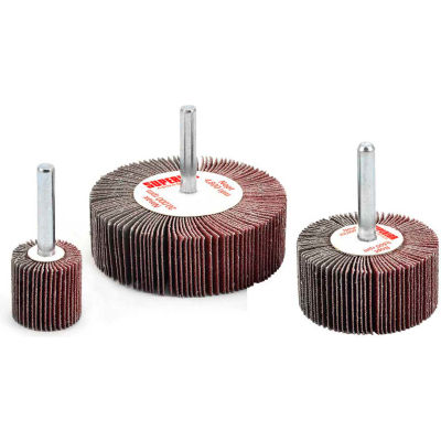 Superior Abrasives 10119 Flap Wheel Mandrel 2 x 1/2 x 1/4 Aluminum Oxide Medium - Pkg Qty 10