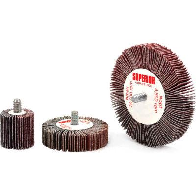 Superior Abrasives 10160 Flap Wheel Mandrel 1 x 5/8 x 1/4-20 Aluminum Oxide Medium - Pkg Qty 10