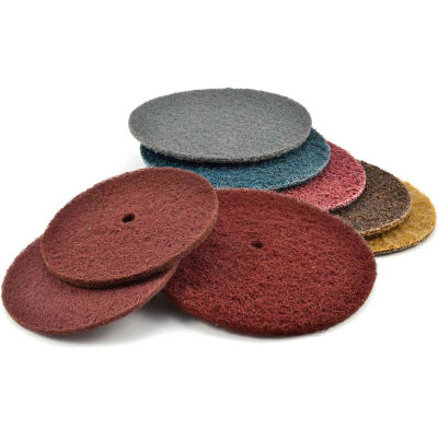 "Superior Abrasives 10590 Conditioning Disc Hook and Loop 7"" Aluminum Oxide Medium - Pkg Qty 20"