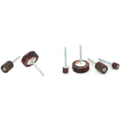 Superior Abrasives 24833 Flap Wheel Mandrel 1-3/16 x 3/16 x 1/8 Aluminum Oxide Fine - Pkg Qty 10