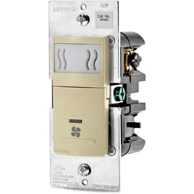 Leviton Humidity Sensor and Fan Control IPHS5-1LI, 120VAC, 60Hz, Single Pole, Ivory