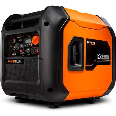 Generac® iQ3500, 3500 Watt, Inverter Generator, Gasoline, Electric/Recoil, 120/240V