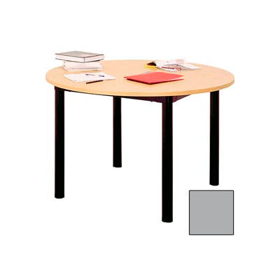 """Round Library Table - 60""""W x 60""""D x 29""""H Gray"""