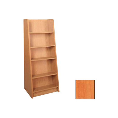 "Paperback Display - End-of-Range 60H - 23-7/8""W x 18""D x 60""H Oiled Cherry"