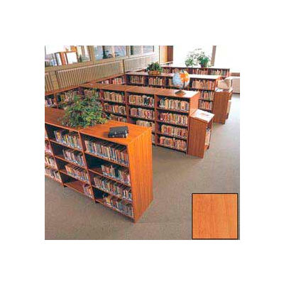 """60"""" Double Face Shelving Base - 37""""W x 24""""D x 59-7/8""""H Oiled Cherry"""