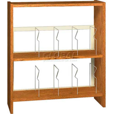 "42"" Picture Book Shelving Base - 37""W x 12-1/2""D x 40-7/8""H Oiled Cherry"
