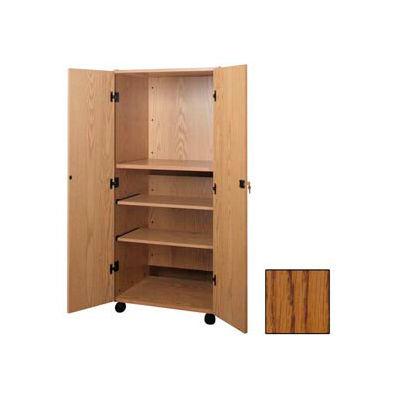 "Video Cabinet - 30-1/4""W x 24-7/8""D x 67-3/8""H Medium Oak"