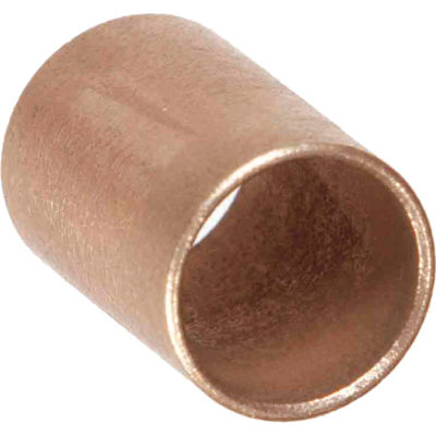 "Oilube® Powdered Metal Sleeve Bearing 201075, Bronze SAE 841, 3/8""ID X 7/16""OD X 3/4""L"