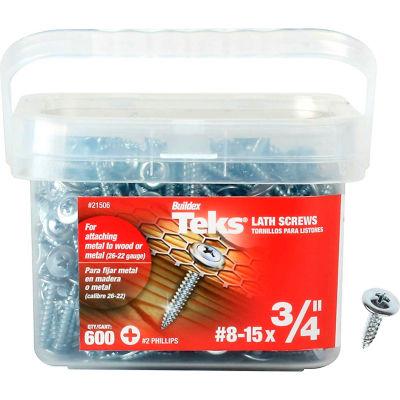 "ITW Teks Lath Sharp Point Screw - #8-15 x 3/4"" - Pkg of 600 - 21506"