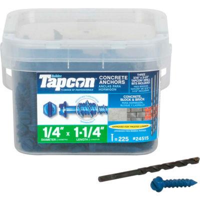 "ITW Tapcon Concrete Anchor - 1/4 x 1-1/4"" - Hex Washer Head - Pkg of 225 - 24515"
