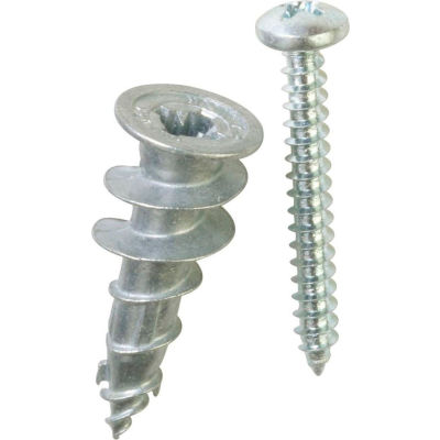 ITW E-Z Ancor 29503 - Stud Solver 50 lb. Self-Drilling Drywall Anchor - Made In USA - Pkg of 4